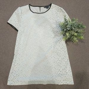 French collection mint green short sleeve blouse
